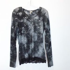BKE Lace & Sequin Top